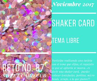 Reto No. 87 Tarjeta Shaker Card - Tema Libre