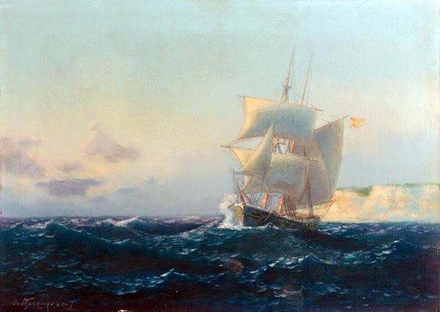 Αιμίλιος Προσαλέντης - Ιστιοφόρο σκάφος στις αρχές του 20ου αιώνα.