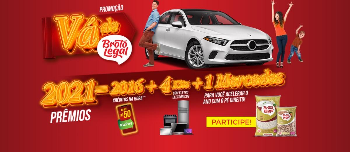 Participar Promoção Vá de Broto Legal 2021 Mercedes e Prêmios - Cadastrar Produtos e Ganhadores
