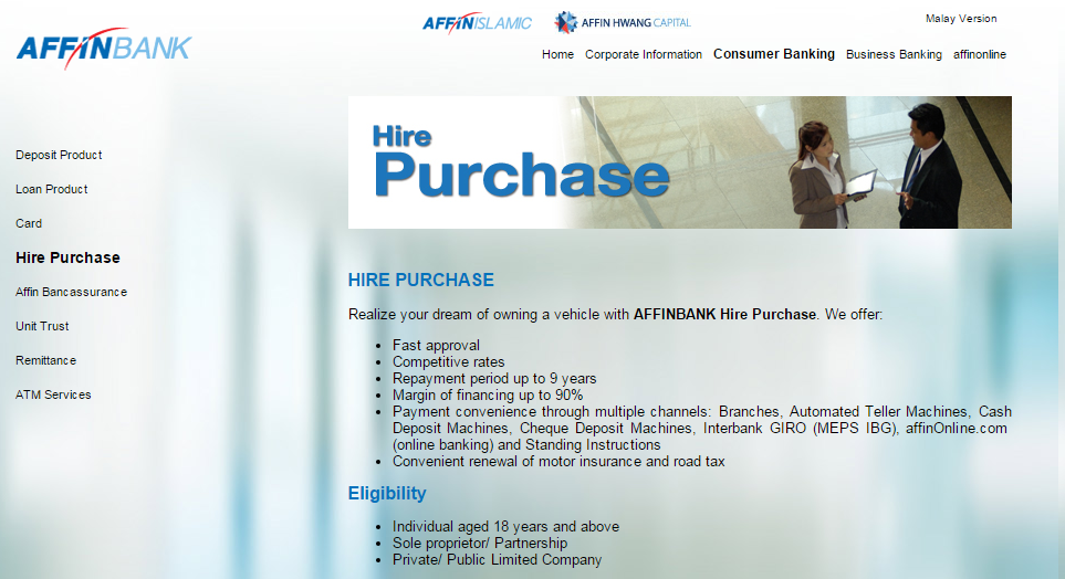 Affin Bank Car Loan Interest Rate