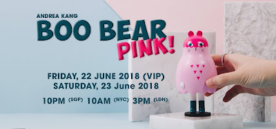 Boo Bear (Pink) Vinyl Figure by Andrea Kang x Mighty Jaxx