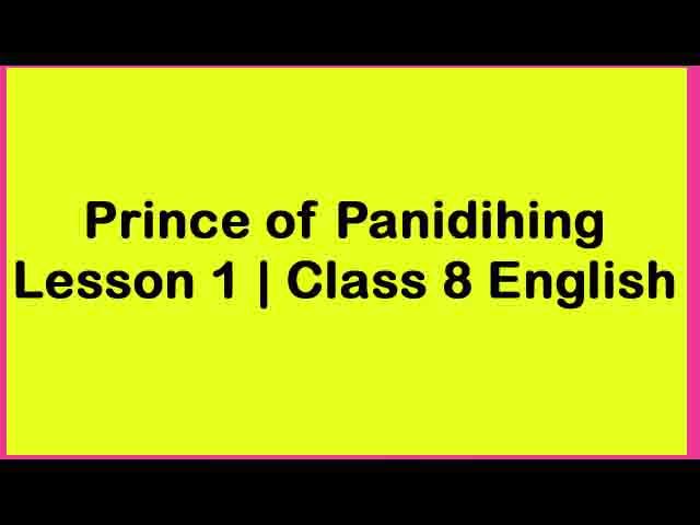 Prince of Panidihing