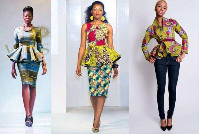 ankara peplum dress designs