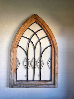 Upcycled wooded arch
