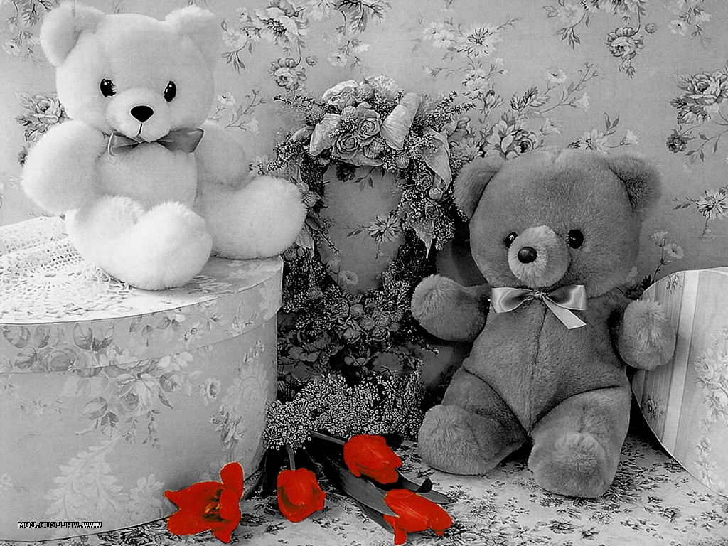 Cute Teddy Bear Black and white wallpapers | Black and ...