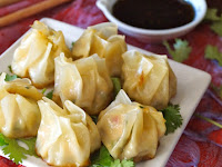 GINGER GARLIC CHICKEN DUMPLINGS