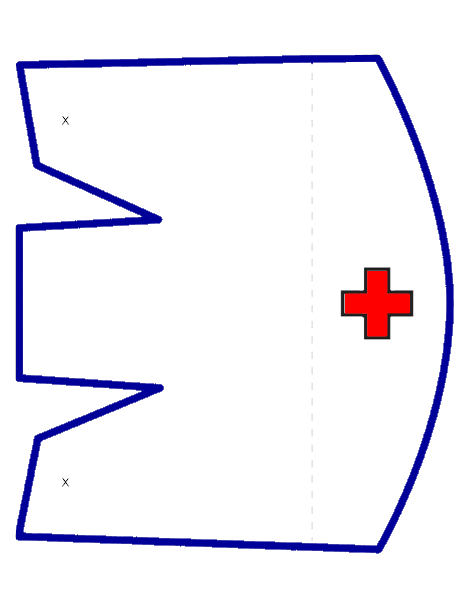graphic about Printable Nurse Hat known as Nurses Hat Template. absolutely free coloring web pages of nurse hat