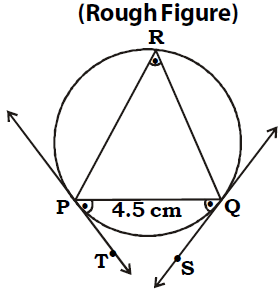 OMTEX CLASSES: 6. Draw a circle of radius 2.7 cm and draw
