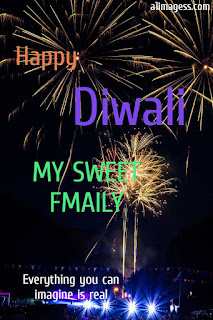 happy diwali family with quotes