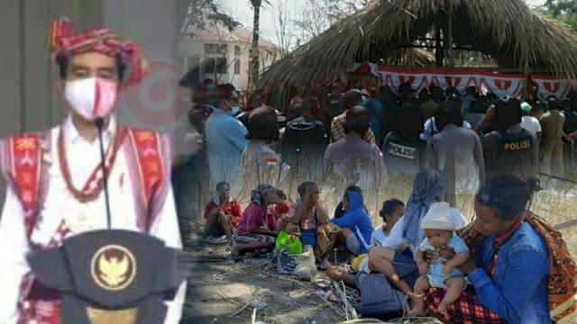 Sehari Sesudah Bajunya Dipakai Jokowi, Rumah-rumah Warga Adat Basipae Dihancurkan dan Dipaksa Kosongkan Lahan