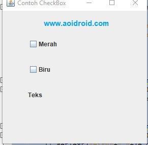 tes aplikasi dengan checkbox java