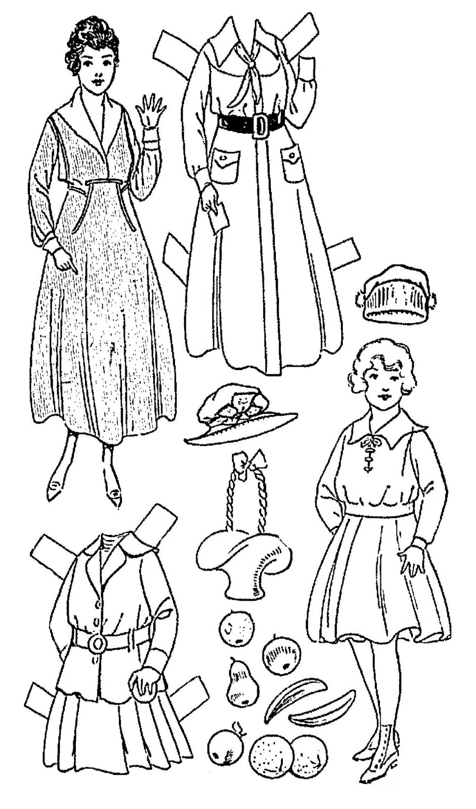 Mostly Paper Dolls Too!: ANNA BELLE Surprises Her Teacher.