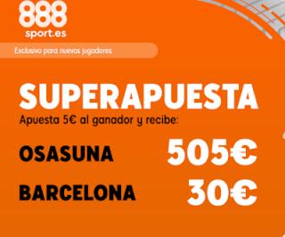 888sport superapuesta liga Osasuna vs Barcelona 31 agosto 2019