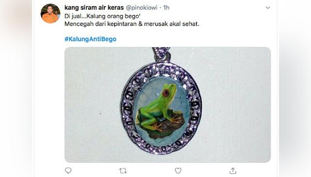Heboh Kalung Antivirus Corona, #KalungAntiBego Jadi Trending di Twitter