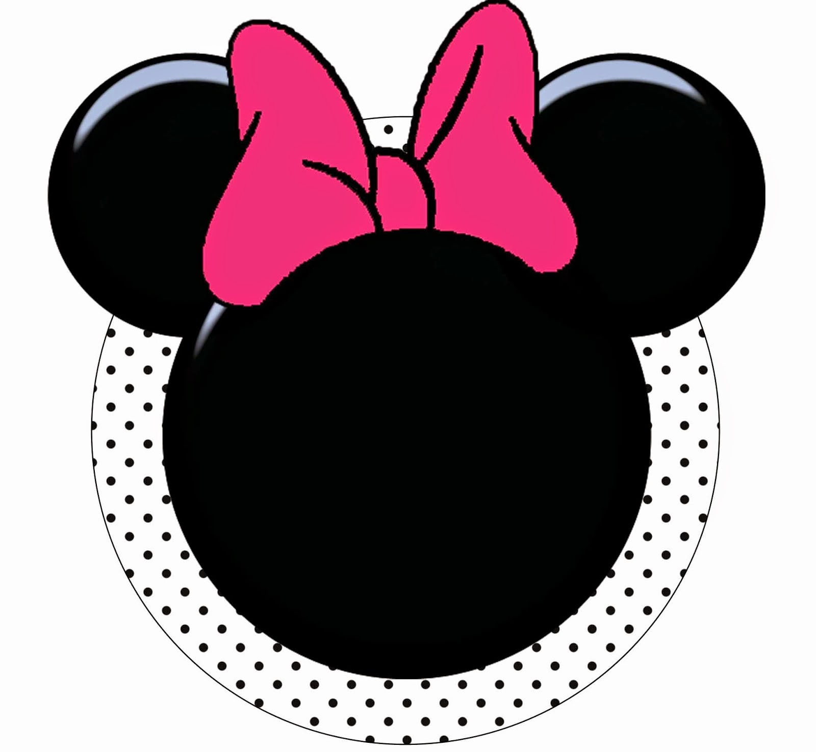 Funny Pink Minnie Mouse Free Printable Kit