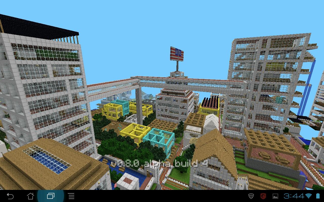 Minecraft PE Building Ideas: The Major City