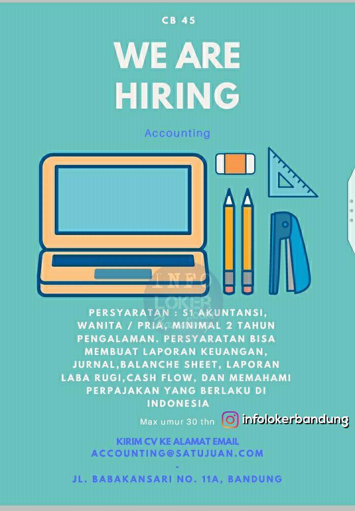 Lowongan Kerja Accounting Satujuan Com Bandung November 2018