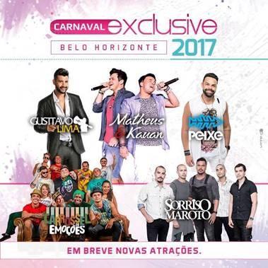 Carnaval Exclusive 2017 muda para a Esplanada do Mineirão e anuncia novos setores