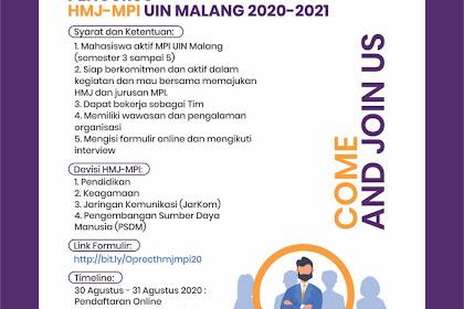 Open Recruitmen Pengurus HMJ-MPI UIN Malang Masa Khidmat 2020-2021