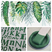 May Moodboard - Leaves - Alpha - Paint