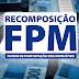 Recomposição do FPM será creditada nesta sexta, 21.