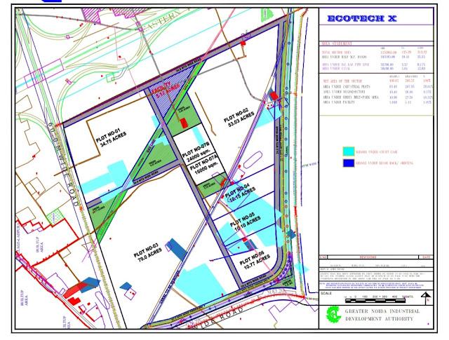 Layout Plan Ecotech-10 Greater Noida , High-definition Map