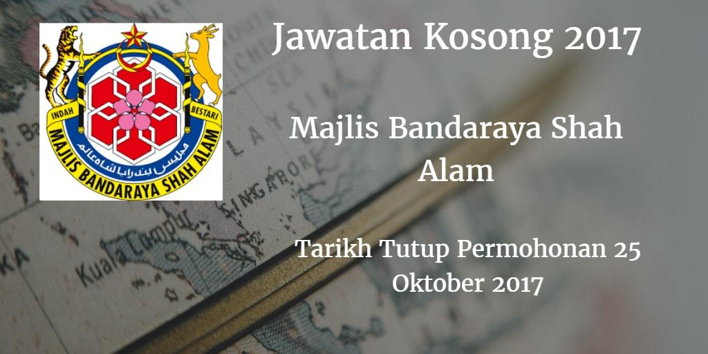 Jawatan Kosong MBSA 25 Oktober 2017