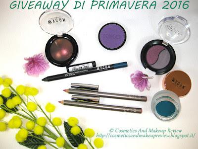 Giveaway di Primavera 2016 #GiveawayDiPrimavera2016 #CosmeticsAndMakeupReview