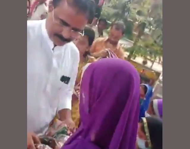Minister Brijendra Yadav viral video