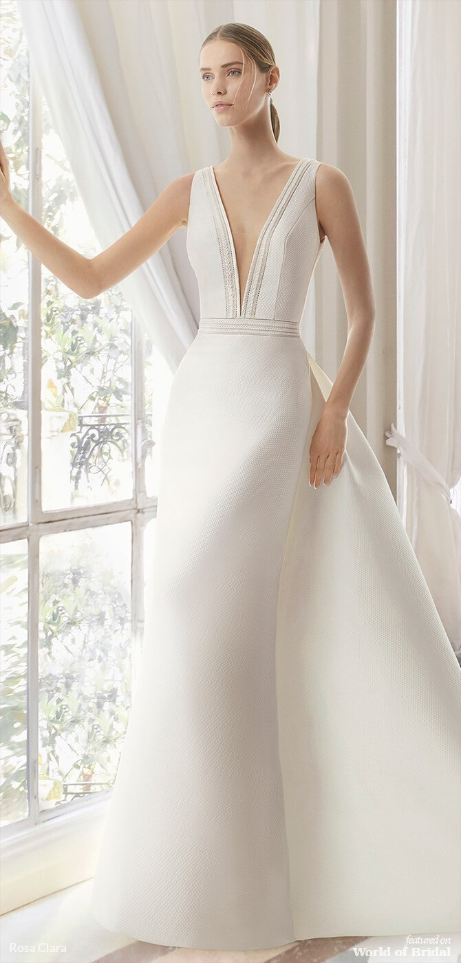 de82d065d7b9 This supremely elegant A-line amalfi wedding dress combines classic styling  with haut couture details like hemstitch and trimming and features a boldly  ...