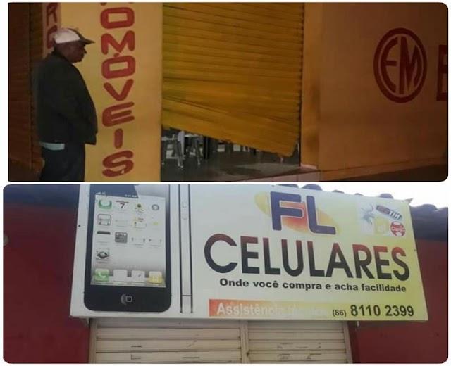 Duas lojas são arrombadas na madrugada dessa sexta-feina na cidade de Cabeceiras