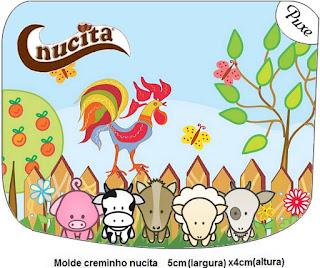 Etiqueta Nucita de La Granja Bebés en Celeste para imprimir gratis.