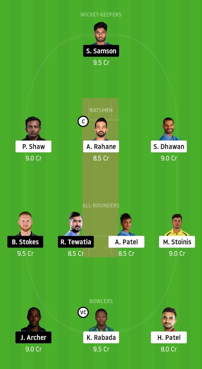 IPL 2020 : DC To Maintain Fine Record Over Royals ? Delhi Capitals vs Rajasthan Royals Dream11 Prediction
