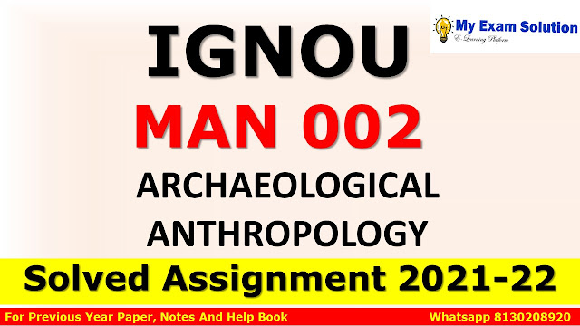 MAN 002 Solved Assignment 2021-22