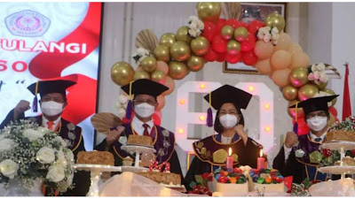 Wagub Steven Ikuti Puncak Perayaan Dies Natalis ke-60 Unsrat