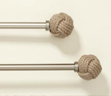 Curtain Rod Rope Finials