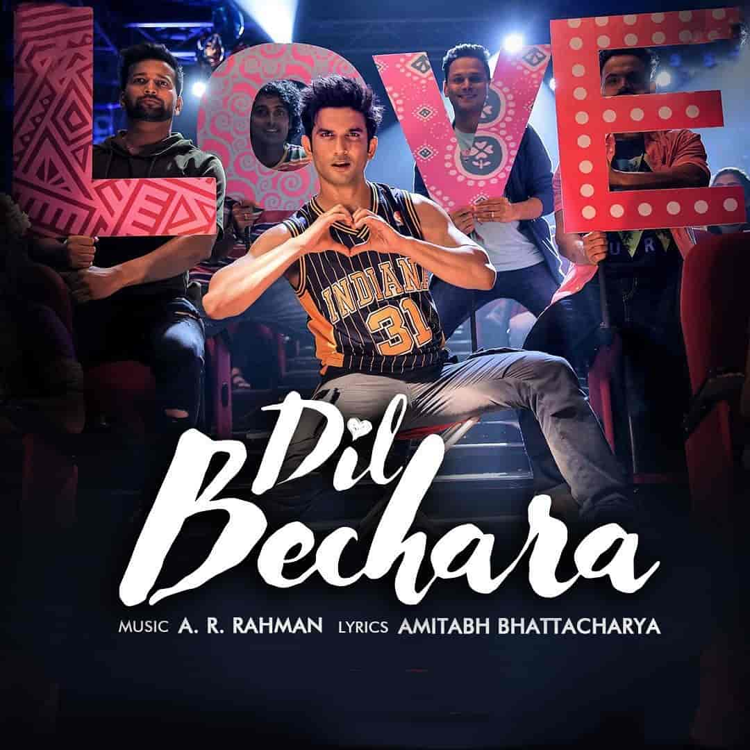 Dil Bechara Title Track Song Image Features Shushant Singh Rajput and Sanjana Sanghi