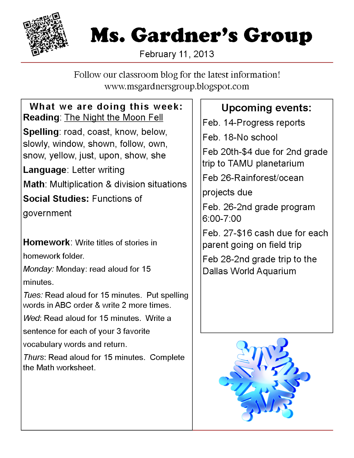 small resolution of Ms. Gardner's Group: February 2013