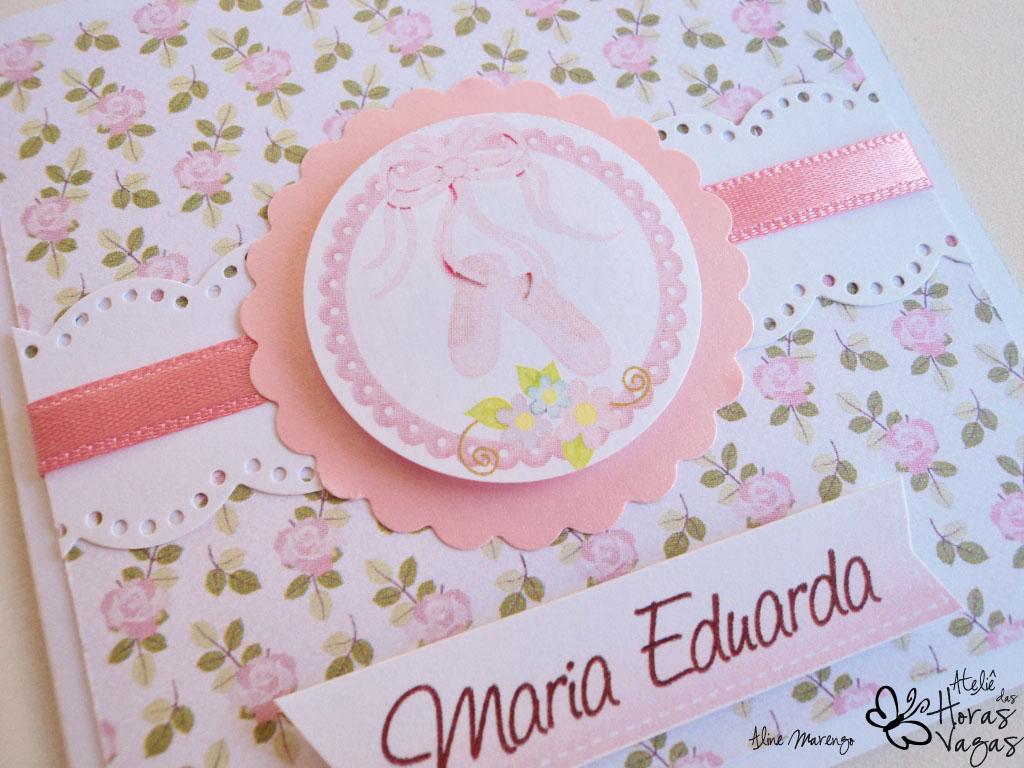convite aniversário bailarina floral rosa provençal menina 1 aninho delicado