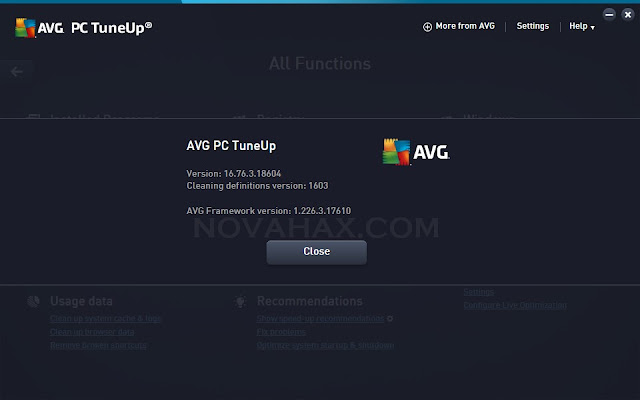 AVG PC TuneUp 2016 product key download