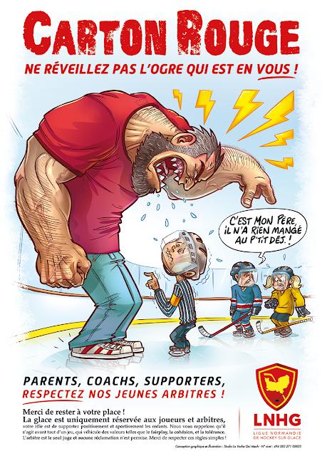 affiche de sensibilisation à la violence faite aux enfants dans le milieu sportif