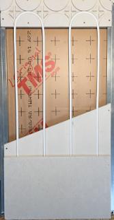 Mur chauffant gypse 18mm finition placo platre