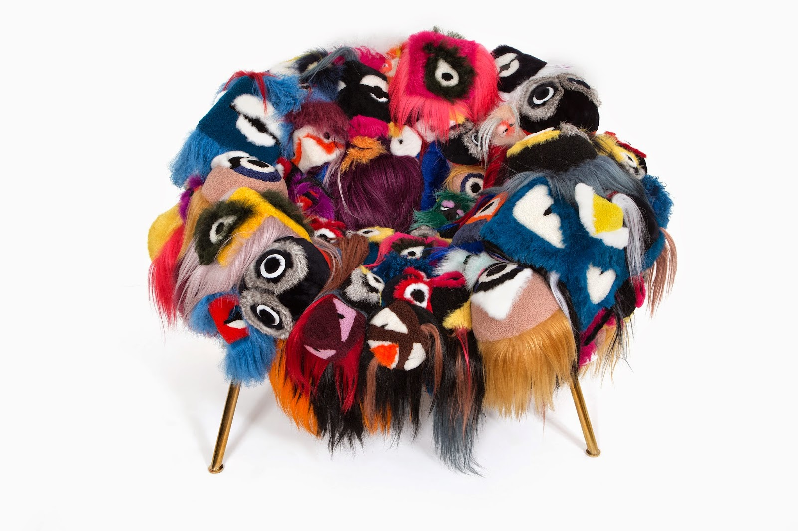 "Fendi's ""The Armchair of Thousand Eyes"" at Salone del Mobile"