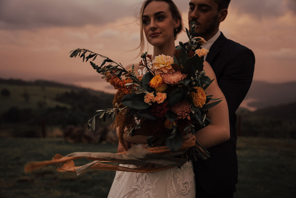 bird and boy photography wedding gold coast floral design venue grazing platter bridal gown suit cake