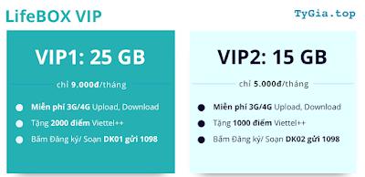 Bảng giá LifeBOX của Viettel