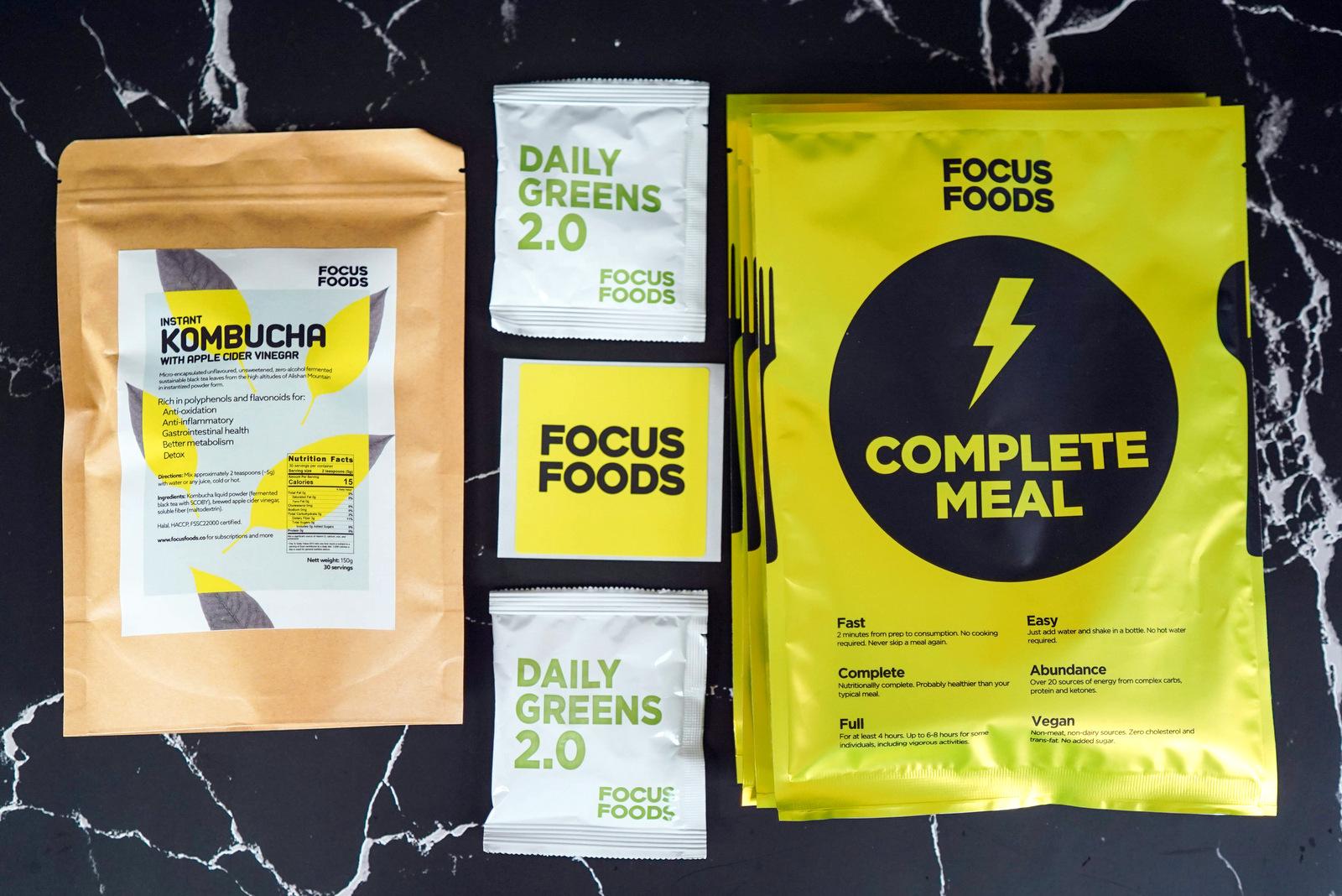 Focus Foods: Plant-based liquid meals for fast, fulfilling nourishment