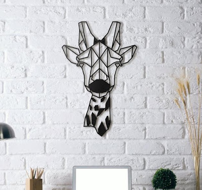 Giraffe Metal Wall Art