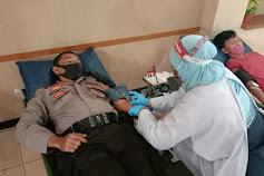 UPTD Pukesmas Purbalingga Gelar Donor Darah, Ternyata Pak Polisi Ikut Juga