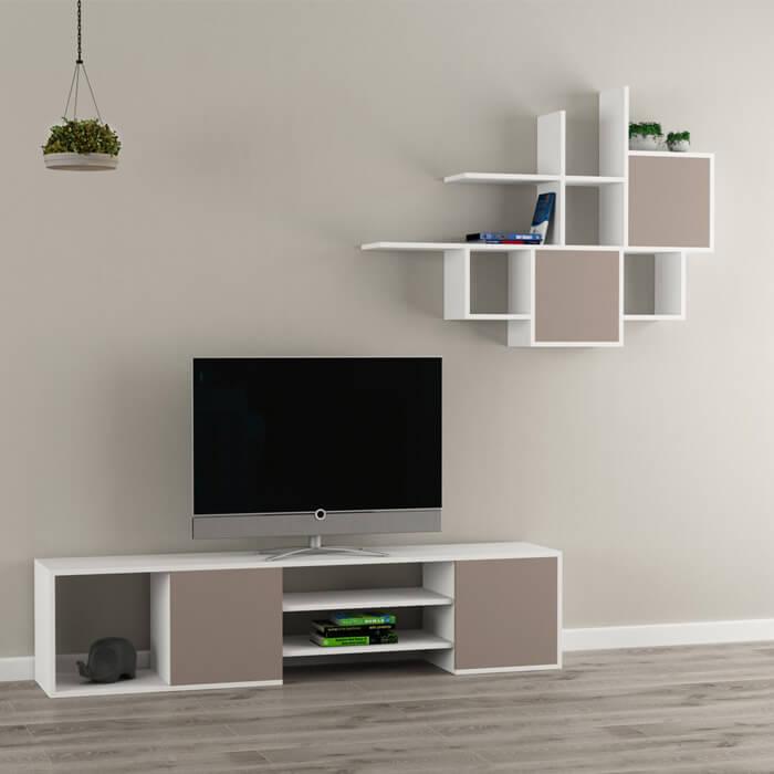 Mobile porta tv per soggiorno bianco e di design