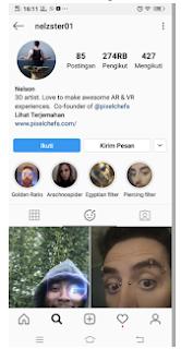 Filter Spider instagram, Filter laba laba keluar dari mulut di instagram
